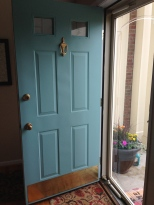 Gave the door an update in a happy color